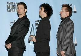 Green Day at the American Music Awards in 2009
