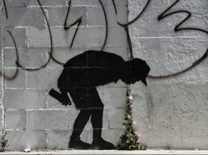 """Better Out than In,"" by Bansky (New York, NY)"