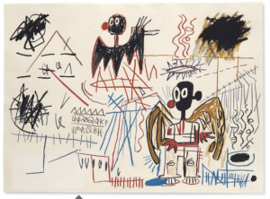 "JEAN-MICHEL BASQUIAT, ""SANS TITRE,"" Est. value ($500,000-800,000)"