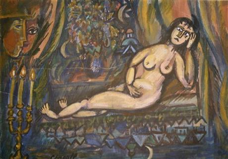 Nude 1909-10, deemed a forgery by the Chagall Committee