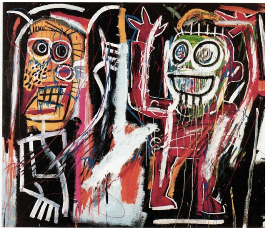 "Basquiat's ""Dustheads,"" which recently sold at auction on May 15, 2013 for $48.8 million:"