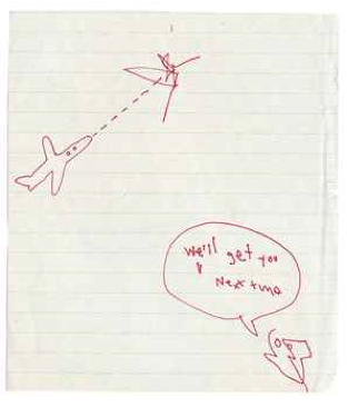 Untitled (We'll Get You Next Time), work attributed to Basquiat, listed in the Christie's catalog.
