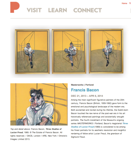 """Francis Bacon, """"Three Studies of Lucian Freud,"""" (1969). © The Estate of Francis Bacon."""
