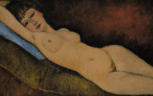 Amadeo Modigliani, Nu Couche au Coussin Bleu (1916)