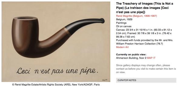 """Magritte, """"C'est ci ne pas un Pipe."""""""