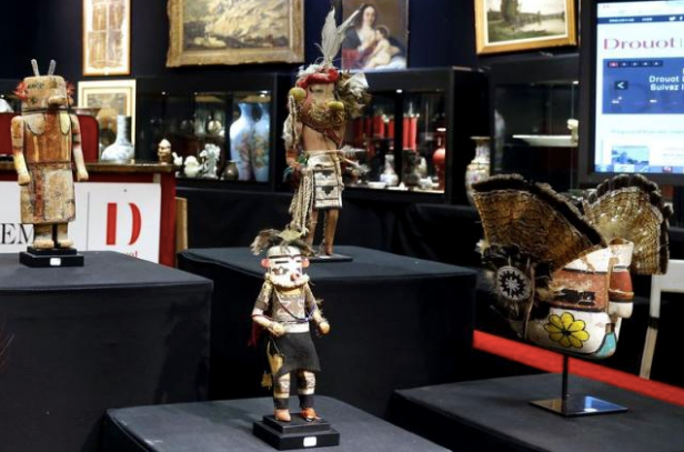Source: Sacred Hopi and Acoma objects are displayed at the Drouot auction house in Paris prior to auction, June 10, 2015. REUTERS/JACKY NAEGELEN