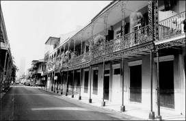 Vieux Carré street scene, photo by Byron Fortier, courtesy of the National Park Service