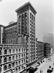 Garrick Theater (Schiller Building) circa 1900, Chicago (demolished 1961), courtesy of Wikimedia Commons